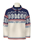 Dale of Norway Vail US Ski and Snowboard Team Sweater (Off-white / Raspberry / Ice Blue)